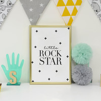 Boys Room Decor, Little Rock Star, Boy Room Decoration, Nursery Print, Baby Room Decor, Baby Boy, Kids Wall Decor, Nursery Art Print.