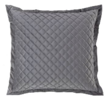 Cowgirl Kim Luxurious Quilted Gray Euro Shams~ Shams Only