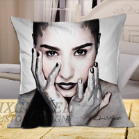 Demi Lovato on Square Pillow Cover