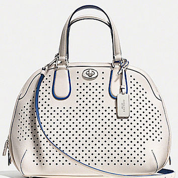 COACH PRINCE STREET SATCHEL IN PERFORATED LEATHER | Dillards.com