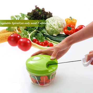 Vegetable Hand Chopper for Chopping, Shredding or Slicing