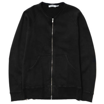 Dweller Full Zip - Cotton Sweat Overdyed Black