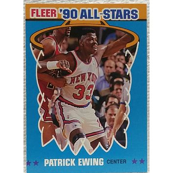 1990 Fleer All-Star #12 Patrick Ewing, New York Knicks, NM+