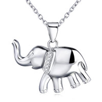 925 Sterling Silver Elephant Necklace  Jewelry