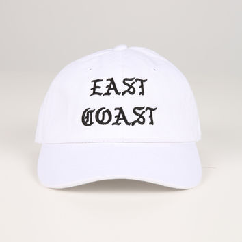 The East Coast Dad Hat in White