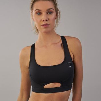 Gymshark Sleek Sculpture Sports Bra - Black