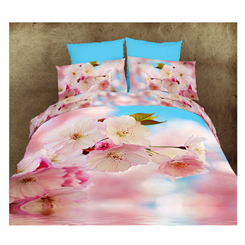3D Queen King Size Bed Quilt/Duvet Sheet Cover Cotton reactive printing 4pcs 1.8M bed 13