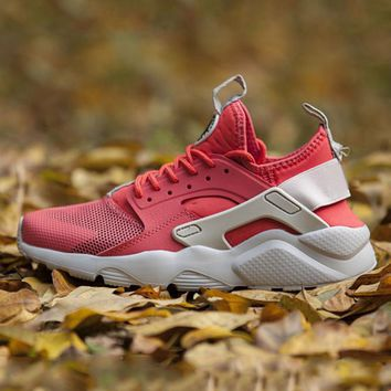 NIKE AIR Huarache Fashion Sport Running Ventilation Sneakers Sport Shoes Red-4