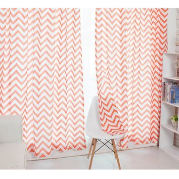 Geometry pattern Window curtain use Bedroom use curtain for livingroom
