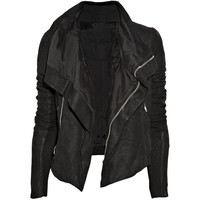 Rick Owens Textured-leather biker jacket