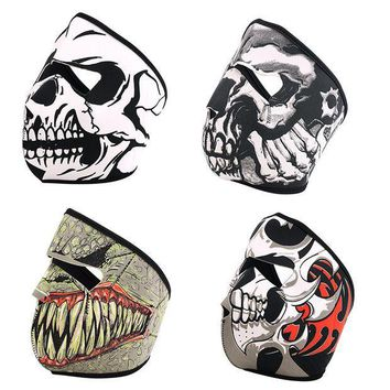 ESBET7 Cool Tubular Skull Ghosts Ghost Mask Bandana Motor bike Sport Scarf Neck Warmer Winter Halloween For Motorcycle 4 Design