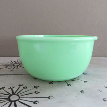 Jadite Bowl Jadite Mixing Bowl Sunbeam Mixer Jadite Bowl Glass Bowl Mint Green Bowl Mixer Bowl Green Bowl Jadite Glass Vintage Jadite