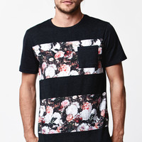 On The Byas Noir Floral Stripe Crew T-Shirt at PacSun.com