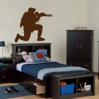 ik709 Wall Decal Sticker soldiers US Army Military shooter