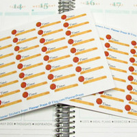 40 Basketball Practice Time Reminder Planner Stickers For Your Life Planner