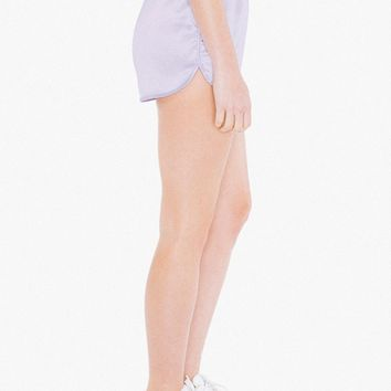 Metallic High-Waist Running Short | American Apparel