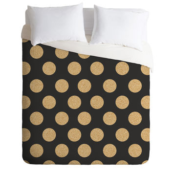 Allyson Johnson Glittering Gold Duvet Cover