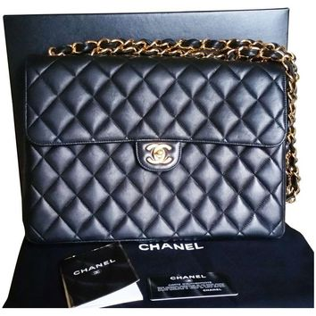 Pre-owned Chanel Jumbo Double Chain Flap Bag