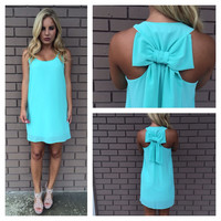 Pop Mint T-Back Bow Dress