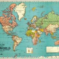 Cavallini & Co. World Map Decorative Wrapping Paper 20x28
