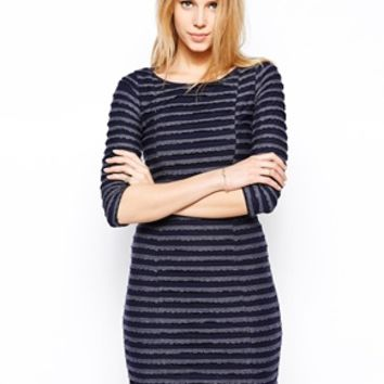 Yumi Scalloped Dress - Navy