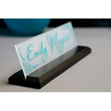 Desk Name Plate Office Supply Personalized Secretary Sign Gift Custom Professional Wood Office Sign