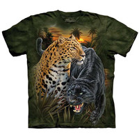 TWO JAGUARS The Mountain T-Shirt Spotted Leopard Black Panther Sizes S-5XL NEW!