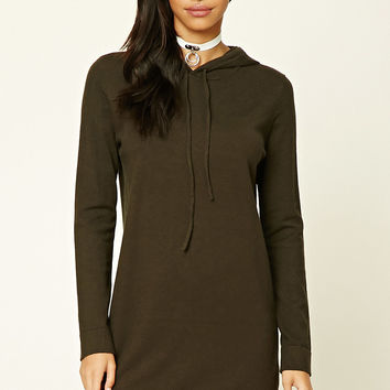 Hooded Shift Dress