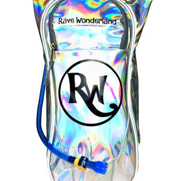 Holographic Rave Wonderland 1.5 Liter Hydration Backpack