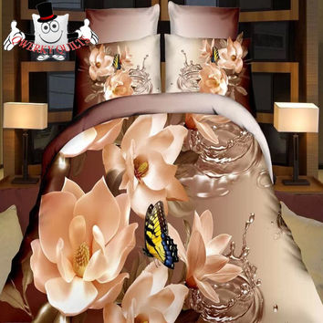 Butterfly with Waterdrops Bedding Set and Quilt Cover