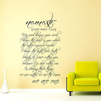 Wall Decals Quotes Vinyl Sticker Decal Art Home Decor Mural Buddha Quote Wall Decal Sign Words Namaste Yoga Mandala Bedroom Dorm Gift AN353