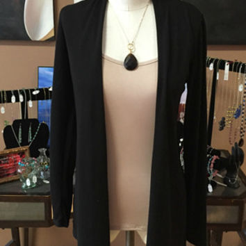 Chris & Carol Black Open Cardigan