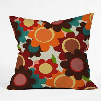 Sharon Turner Autumn Flowers Throw Pillow