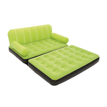 Green Inflatable Indoor/Outdoor Multi Purpose Sofa Couch Bed Lounge With Air Pump