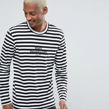 HUF Long Sleeve T-Shirt With Block Stripe at asos.com