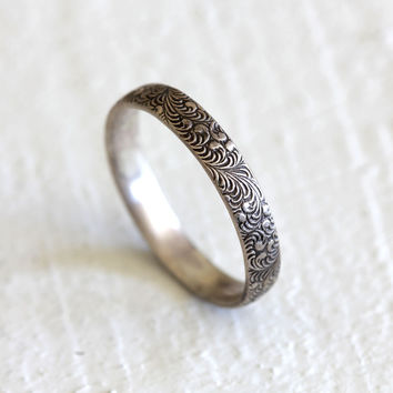 Fern ring - sterling silver botanical ring