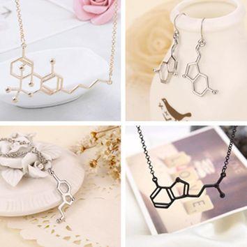 Popular Love Password Biomolecule Physiochemical Structure Pendant Molecular Necklace Of High Quality Charmed Jewelry For Women