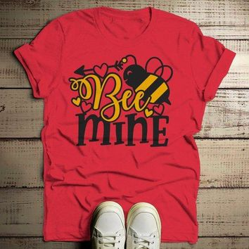 Men's Valentine's Day T Shirt Bee Mine Shirts Cute Bee TShirt Valentines Shirts Arrow Tee