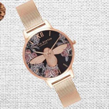 DCCKUH3 Bees Ladies Fashion Quartz Watches Wrist Watch