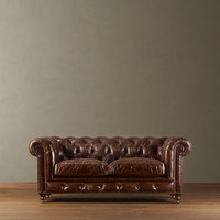 "76"" Kensington Leather Sofa"