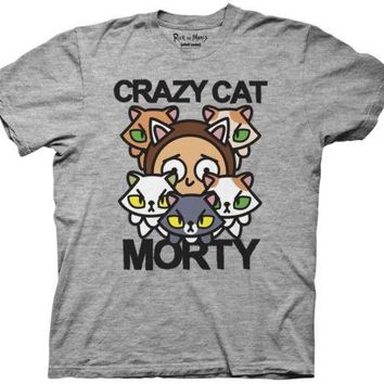 Rick and Morty Crazy Cat Morty Adult Swim Funny TV Adult T Shirt