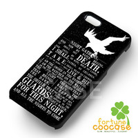 Game of thrones nights crow silhouette quotes -trtr for iPhone 6S case, iPhone 5s case, iPhone 6 case, iPhone 4S, Samsung S6 Edge