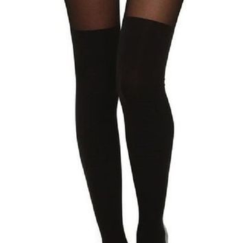 AM Landen®Sexy MOCK Thigh-Highs Pantyhose Tights(Cross)