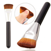 1Pc Flat Contour Bronzer Highlight Brush Portable Cosmetic Brush Makeup Tool for Makeup
