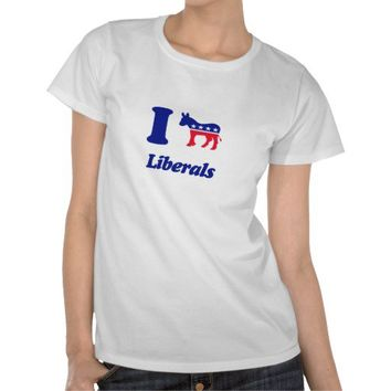 i heart donkey liberals shirts from Zazzle.com
