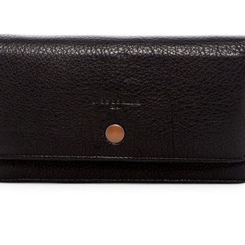 Liebeskind Berlin Slam Black Leather Travel Clutch Purse Wallet