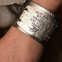 NOT ALL WHO WANDER CUFF - Junk GYpSy co.