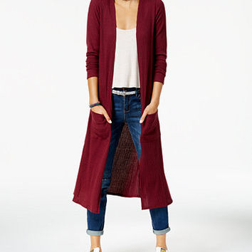 Planet Gold Juniors' Open-Front Duster Cardigan | macys.com