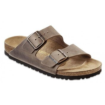 Birkenstock Classic Arizona Regular Fit Natural Leather Tobacco Brown - Beauty Ticks