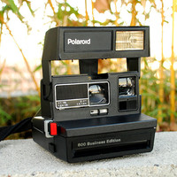 Vintage Polaroid Camera 600 Business Edition with Case